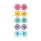 Flower Pattern DIY PVC Picture StickersAJEW-I028-07-1