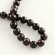 Natural Garnet Gemstone Bead Strands G-R263-6mm-2