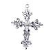 Aleación de plata antigua cruz colgantes latinoPALLOY-J161-04AS-2