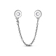 TINYSAND® Sterling Silver Round Safety Chains & Beads TS-S-141-2