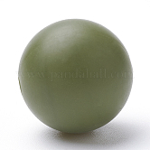 Abalorios de silicona ambiental de grado alimenticio, masticar cuentas para mordedores, diy collares de enfermería haciendo, redondo, darkolivegreen, 8~10mm, agujero: 1~2 mm