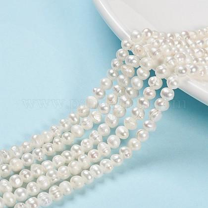 Grado de hebras de perlas de agua dulce cultivadas naturalesSPPA001Y-1-1