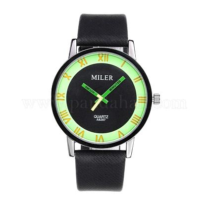 High Quality Luminous Men's Alloy PU Leather Quartz Wristwatches WACH-L032-02-1