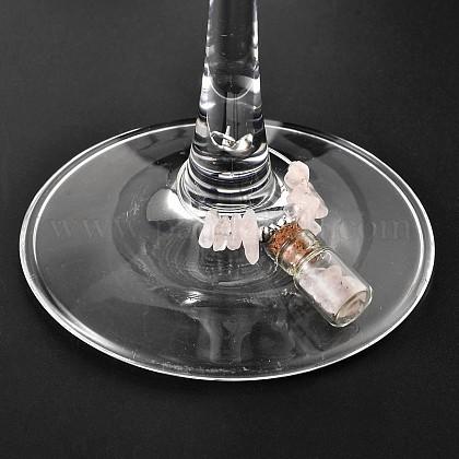Glass Bottle Wine Glass CharmsAJEW-JO00128-01-1