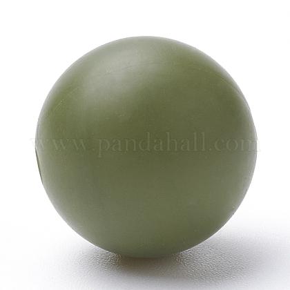 Abalorios de silicona ambiental de grado alimenticioSIL-R008A-49-1