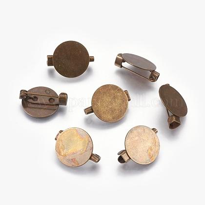 Brass Brooch FindingsKK-A022-AB-1-1