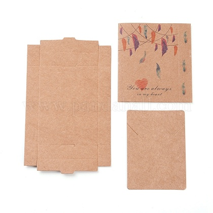 Kraft Paper Boxes and Necklace Jewelry Display CardsCON-L016-B01-1