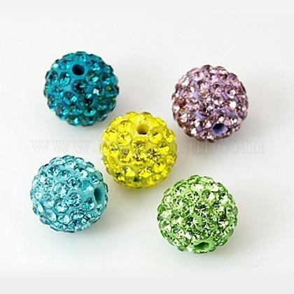 Color mezclado grado una reronda de bolas de la bola del disco pavimentaX-RB-H258-8MM-M-1