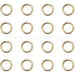 PandaHall Elite 360pcs Brass Jump Rings, Close but Unsoldered, Golden, 8x1mm