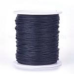 Cordones de hilo de algodón encerado, negro, 1 mm; Aproximadamente 100 yardas / rollo (300 pies / rollo)