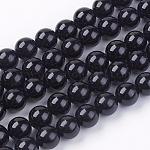 Natural Tourmaline Bead Strands, Round, Black, 6mm, Hole: 0.8mm; about 63pcs/strand, 15.7