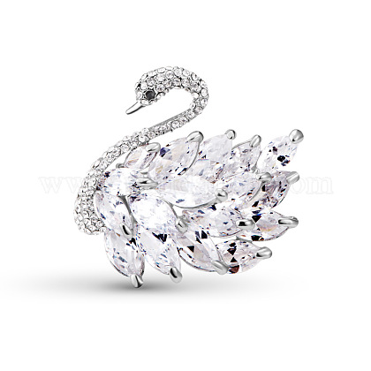 Broche de seguridad de aleación chapada en oro blanco de moda shegrace®JBR037A-1