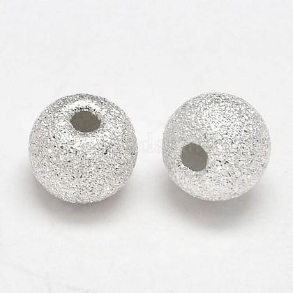 Perles rondes en argent sterling texturéesSTER-F012-23B-1