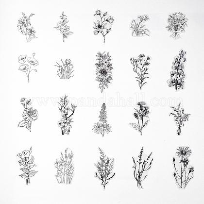 Juegos de pegatinas de estampado autoadhesivo de tema vegetalDIY-WH0163-08C-1
