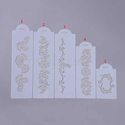 Экологически чистые пластиковые шаблоны Молды для тортовDIY-G020-13-1