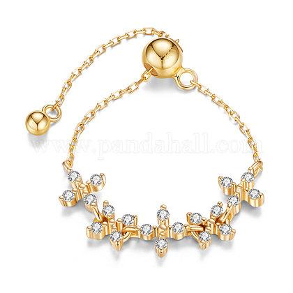 SHEGRACE® Adjustable 925 Sterling Silver Finger Ring ChainJR617B-1