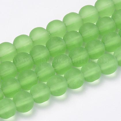 Chapelets de perles en verre transparente  GLAA-Q064-02-6mm-1