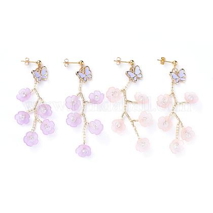 Acrylic Dangle Stud Earring SetsEJEW-JE04155-1