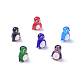Handmade Lampwork Beads, Cartoon Penguin, Mixed Color, 19.5x16.5x14mm, Hole: 1.8mm