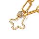 Iron Paperclip Chain NecklacesNJEW-JN02666-01-3