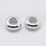 Sterling Silver Spacer Beads, Rondelle, Silver, 5x2mm, Hole: 2.5mm