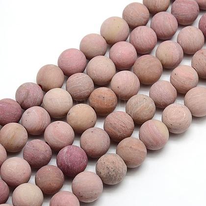 Abalorios de Rodocrosita natural redondosG-M064-10mm-04-1