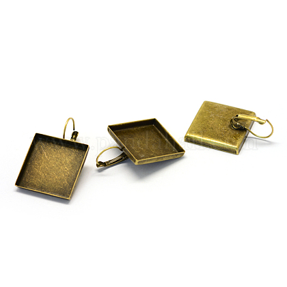Fornituras de pendientes de palanca de hierroX-MAK-Q007-10-1