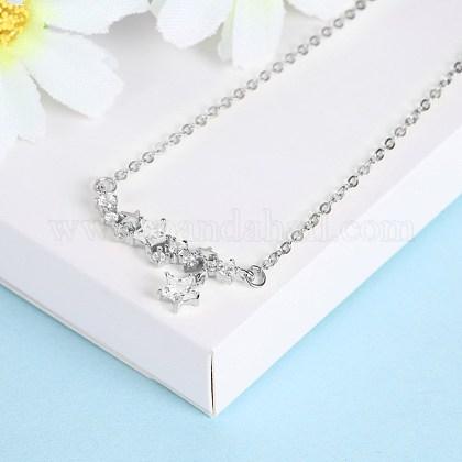 Collares pendientes de plata esterlina de modaNJEW-BB28875-A-1