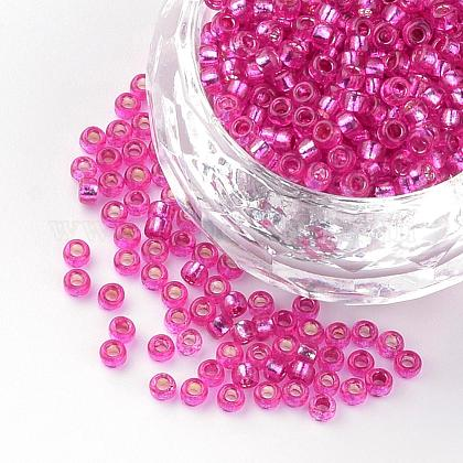 Silver Lined Glass Round Seed BeadsSEED-R044-07-1
