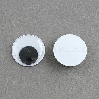 Черный и белый покачиваться гугли глаза Кабошоны DIY скрапбукинга ремесла игрушка аксессуарыX-KY-S002-24mm-1
