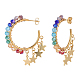 Dangle Stud Earrings EJEW-JE04056-2