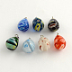 Handmade Millefiori Glass Pendants with Platinum Plated Iron Findings LK-R005-14-1