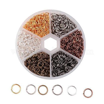 1 caja 6 color anillos de salto de hierroIFIN-JP0012-6mm-1