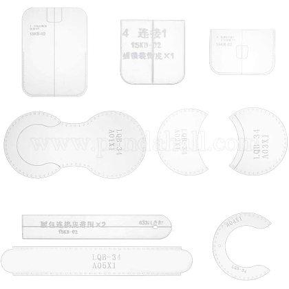 Nbeads 10 шт. акриловые шаблоны для поясных сумок ручной работыTOOL-NB0001-22-1