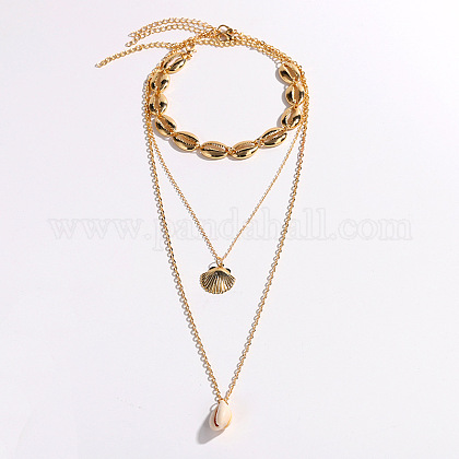 Bohemian Style NecklacesNJEW-WH0005-02G-1