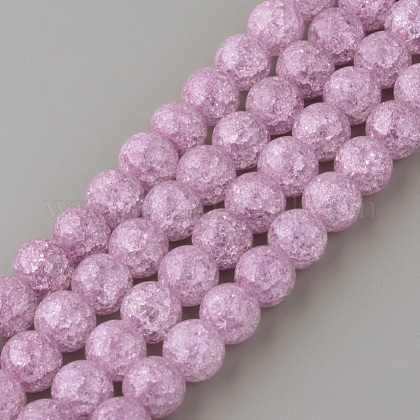 Synthetic Crackle Quartz Beads StrandsX-GLAA-S134-8mm-14-1