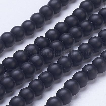 Perles en verre dépoli G-D855-03-6mm-1
