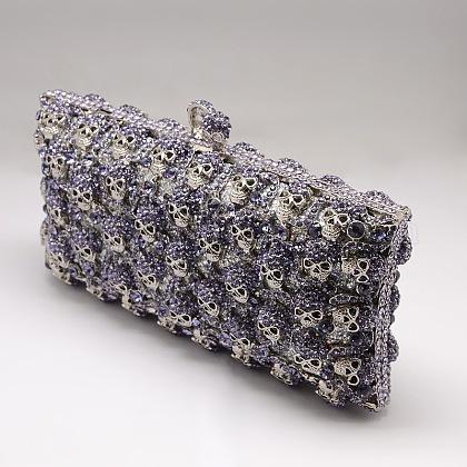 Elegante embrague rectángulo bolso bolso de tarde de las mujeresAJEW-L016-17D-1