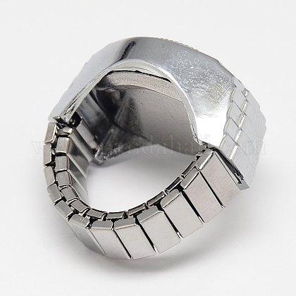 混合ストレッチ時計バンド合金指リング腕時計WACH-M005-M-1