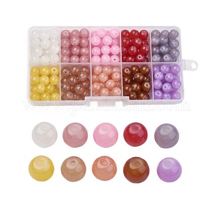 Imitation Jade Glass Beads StrandsDGLA-X0007-6mm-02-1