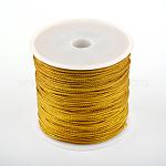 Hilo de nylon, DarkGoldenrod, 1 mm; aproximamente 80 m / rollo