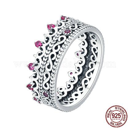 Anillos de dedo de plata 925 esterlinaRJEW-FF0010-08AS-16mm-1