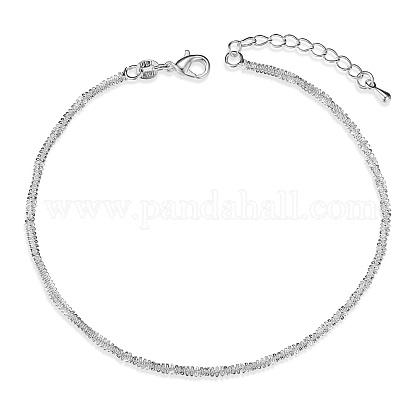 SHEGRACE® 925 Sterling Silver Chain AnkletsJA148A-1