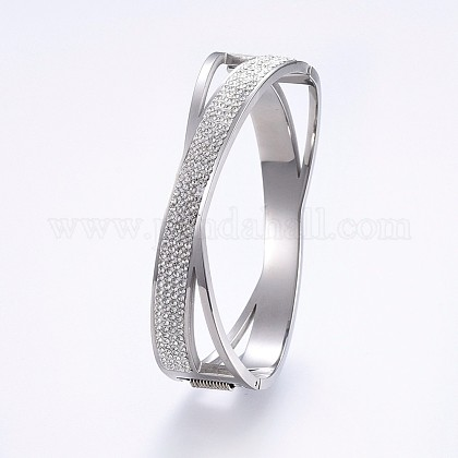 304 Stainless Steel BanglesBJEW-P223-27P-1