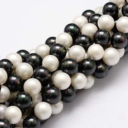 Hilos de perlas de concha pulidaBSHE-F013-07C-1