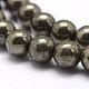 Natural Pyrite Beads StrandsG-D391-01-2