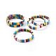 Pulseras elásticas de azulejosBJEW-K004-12-1