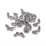 Antique Silver Acrylic Beads, Wing, about 21mm long, 9mm wide, 3mm thick, hole: 1mm