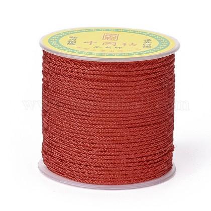 Cordón trenzado de poliéster para hacer joyasOCOR-F011-C09-1