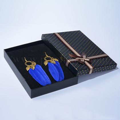 Fashewelry® Bohemian Enthusiastic Feathered EarringsEJEW-TA0001-01B-1